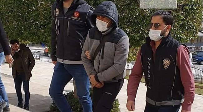 Tantunili uyuşturucu servisi şüphelisi tutuklandı