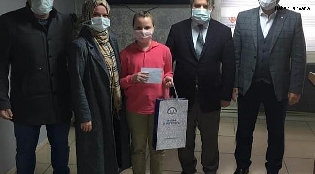 Yunusemreli Semine Nisa Gaşi resim yarışmasında 1. oldu