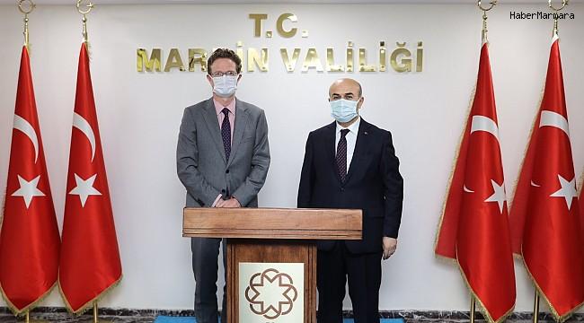 AB Türkiye Delegasyonu Başkanı Meyer-Landrut, Mardin Valisi Demirtaş ile bir araya geldi