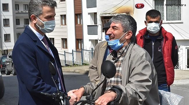 AK Parti Trabzon İl Başkanı Mumcu engelli Levent Baytar'ın hayalini gerçekleştirdi