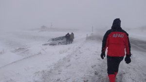 Aksaray'da olumsuz hava koşulları nedeniyle mahsur kalan 117 vatandaş kurtarıldı