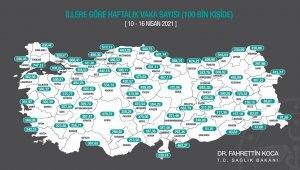 Antalya'da 100 bin kişide görülen vaka sayısı 301,65'e yükseldi