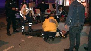 Arnavutköy'de motosiklet ile otomobil çarpıştı: 1 kişi yaralandı