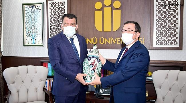Başkan Gürkan, Rektör Kızılay'ı ziyaret etti