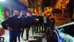 Beyoğlu'nda kavga ihbarına giden polise pasta sürprizi
