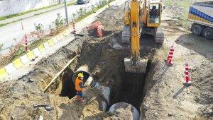 Büyükşehir Belediyesi Posta Caddesi'nde yağmur suyu hattı çalışması başlattı