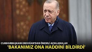 Cumhurbaşkanı Erdoğan'dan Cuma Namazı Sonrası Açıklama! 'Ona Haddini Bildirdi'