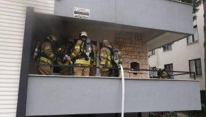 Edremit'te bacadan düşen kurumlar yangın çıkardı