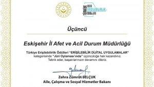 Eskişehir AFAD'a ödül