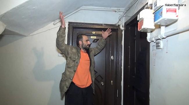 Hırsız bodrum kattaki evde mahsur kaldı