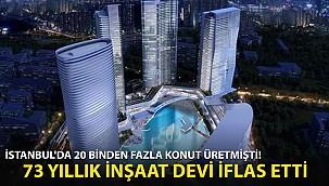 İstanbul'da 20 Binden Fazla Konut Üretmişti! 73 Yıllık İnşaat Devi İflas Etti