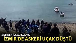 İzmir Foça'da Askeri Uçak Düştü! MSB'den İlk Açıklama