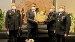 Jandarma komutanından emniyet müdürüne ziyaret