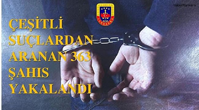 Jandarma kontrollerinde 3 ayda 363 aranan şahıs yakaladı