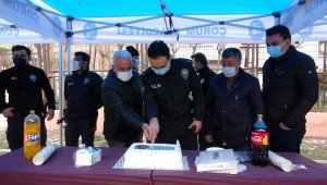 Kavga ihbarına gelen polise pasta sürprizi