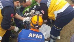 Kontrolden çıkan pat patın altında kalan sürücü yaralandı