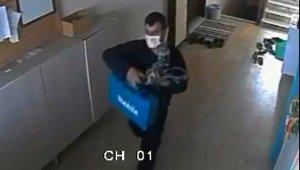Matkap hırsızı önce kameraya sonra polise yakalandı