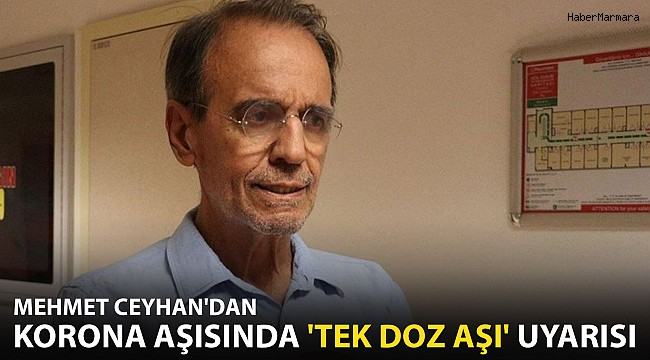 Mehmet Ceyhan'dan Koronavirüs Aşısında 'Tek Doz Aşı' Uyarısı