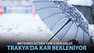 Meteoroloji'den Yeni Uyarı Geldi! Trakya'da Kar Bekleniyor