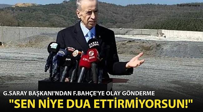 Mustafa Cengiz'den F.Bahçe'ye Olay Gönderme