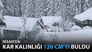 Nisan'da Kar Kalınlığı 120 Santimetreyi Buldu