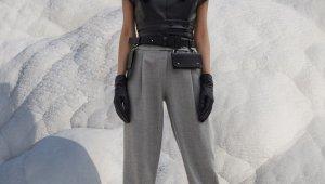Pamukkale travertenleri moda çekimlerine ev sahipliği yapıyor