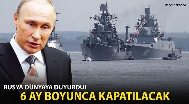 Rusya, Karadeniz'in 3 Bölgesini 6 Aylığına Kapattı