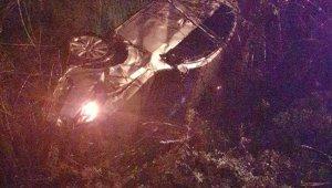 Samsun'da otomobiliyle şarampole yuvarlanan uzman çavuş yaralandı