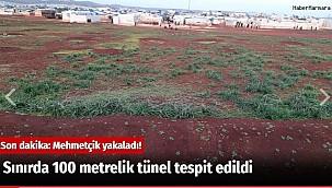 Suriye Sınırında 100 metrelik tünel tespit edildi