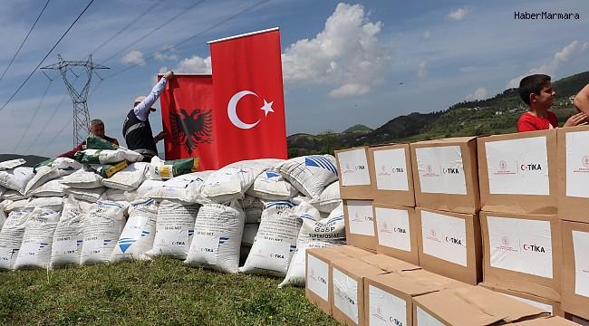 TİKA'dan Arnavutluk'ta çiftçilere tohum ve gübre desteği