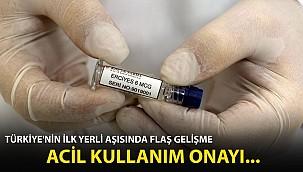 Türkiye'nin İlk Yerli Aşısında Flaş Gelişme! Acil Kullanım Onayı...
