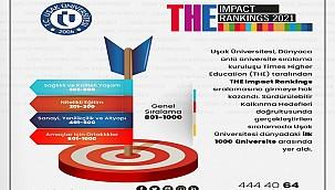 """Uşak Üniversitesi 'THE"""" dergisinde ilk bin üniversite arasında yer aldı"""