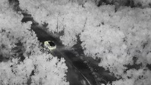 Uyuşturucu tacirleri drone ile saniye saniye takip edildi