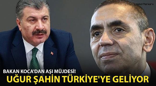 Bakan Fahrettin Koca duyurdu! Uğur Şahin Türkiye'ye Geliyor