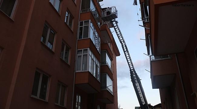 Balkona düşen yaralı ebabil kuşunu itfaiye kurtardı