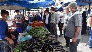 Başkan Beyoğlu, pazar yerlerini denetledi