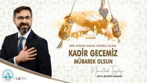 """Belediye Başkanı Tanğlay'dan """"Kadir Gecesi"""" mesajı"""