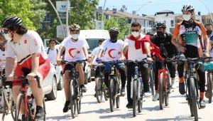 Düzce'de pedallar 19 Mayıs için döndü