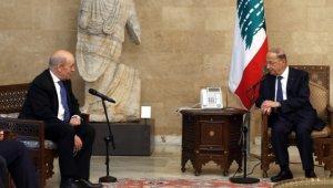 Fransa Dışişleri Bakanı, Lübnan Cumhurbaşkanı Michel Aoun ile görüştü