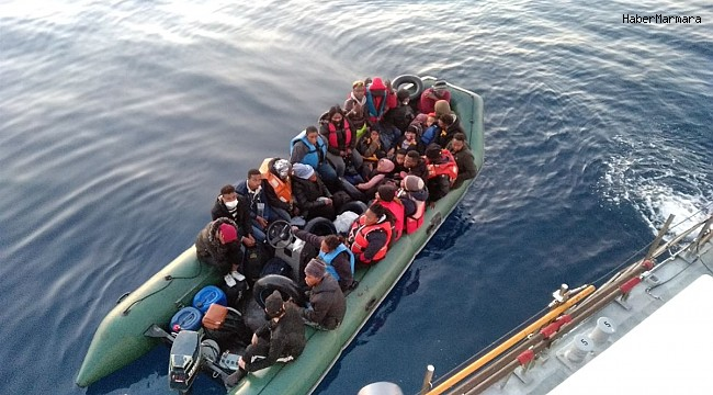 İzmir açıklarında 28 düzensiz göçmen kurtarıldı