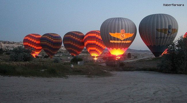 Kapadokya'da balonlar 21 günün ardından havalandı