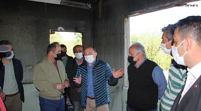 Kastamonu'da yanan 6 ev, Kurban Bayramına kadar yapılacak