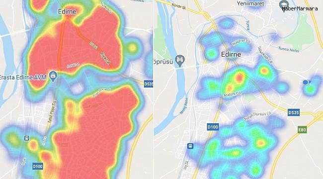 Edirne'de Korona virüs haritasında büyük değişim