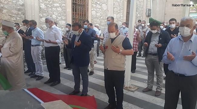 Kudüs şehitleri için gıyabi cenaze namazı ve basın açıklaması