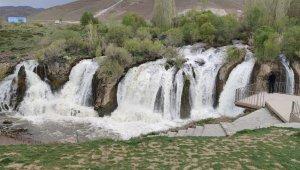 Muradiye Şelalesi bahar güzelliği ile göz kamaştırıyor