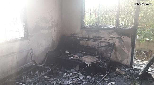 Tarsus'ta ev yangınında 1 kişi yaralandı