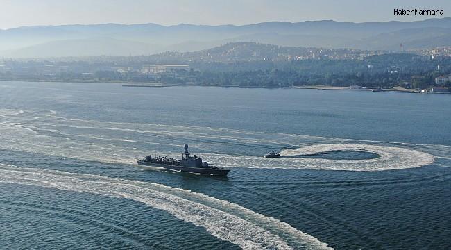 Türkiye'nin en geniş çaplı deniz tatbikatı başladı, savaş gemileri birer birer denize açıldı