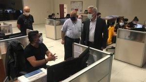 Vali Seymenoğlu'ndan 112 Acil Çağrı Merkezi'ne moral ziyareti