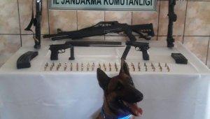 Akyaka'da jandarma silah ele geçirdi