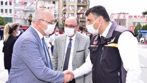 Başkan Ergün'den AFAD çadırına ziyaret